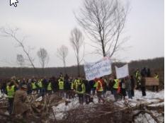 Blockade im Querumer Forst